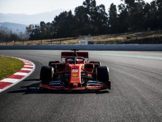 Vettel, al volante del Ferrari SF90