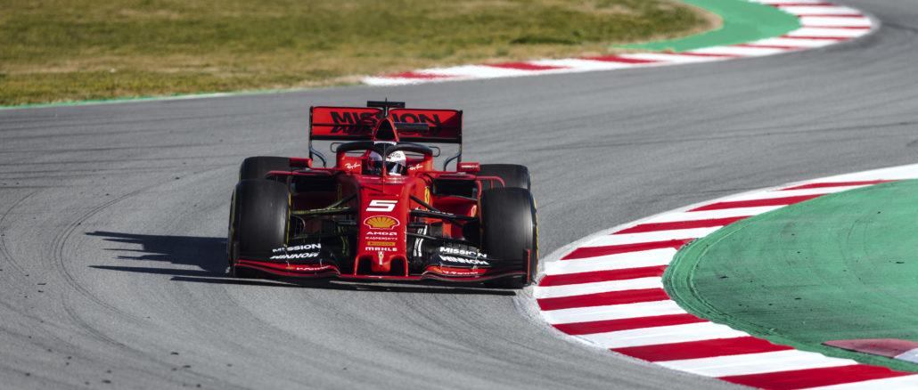 Ferrari SF90 Sebastian Vettel Barcelona tests pretemporada